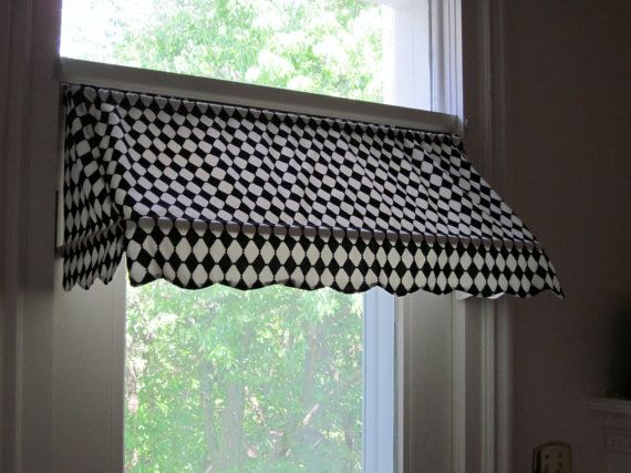 Ready Made Indoor Awning Curtain Fits Windows 26 To 36 By Dlhord Cotton House