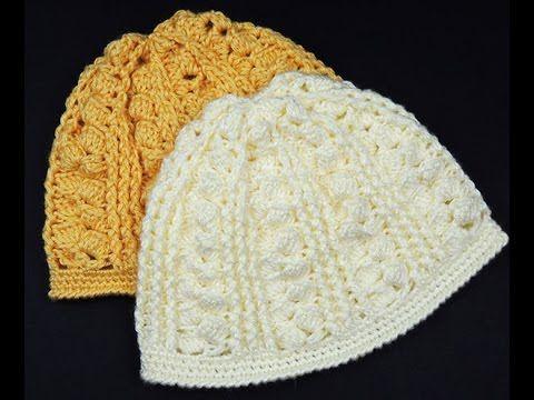 Cómo hacer un gorro con punto corazón a crochet - YouTube  9fb342cbdb3