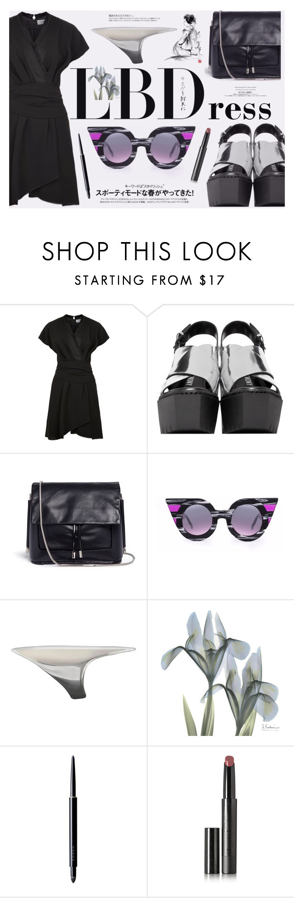 """""""Little Black Dress"""" by katarina-blagojevic ❤ liked on Polyvore featuring Carven, Opening Ceremony, 3.1 Phillip Lim, Delalle, Georg Jensen, Anja, SUQQU and Surratt"""