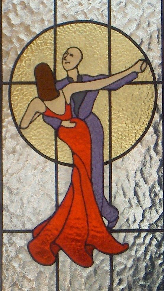 'It Takes Two' Combination Tiffany / leaded window 34 x 114, Ottobrunn (D)