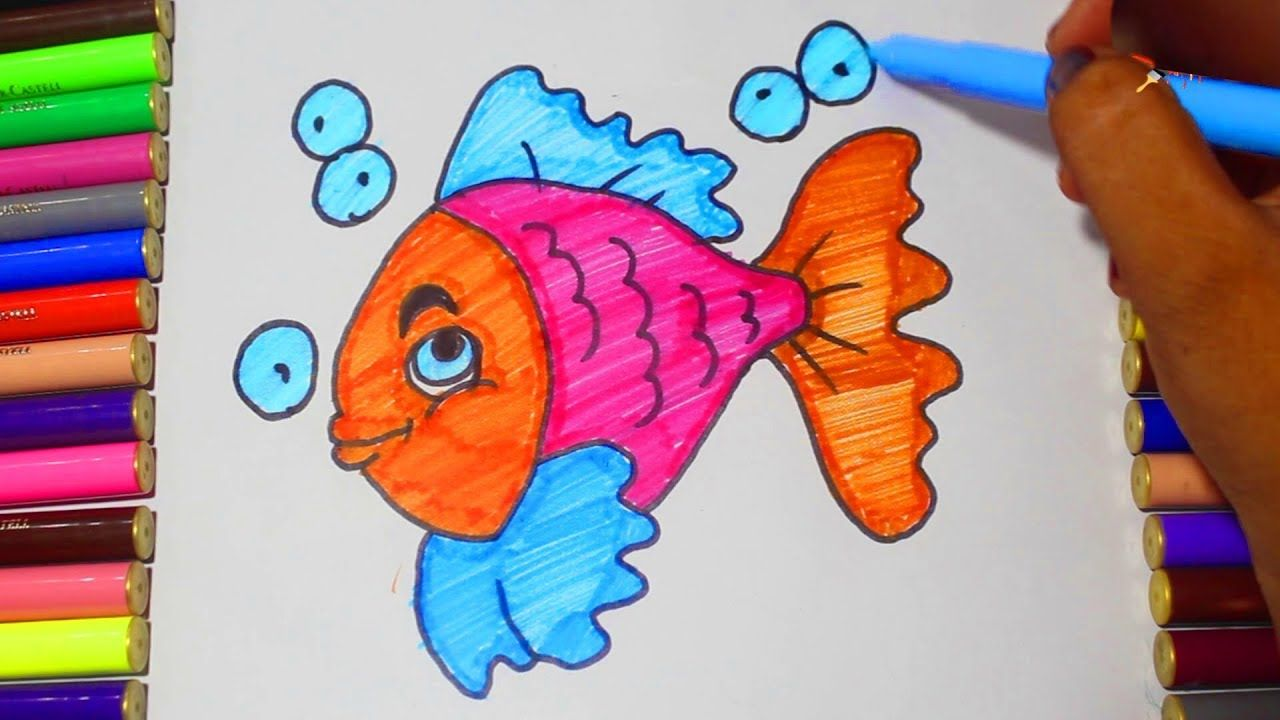 How To Draw Fish Easy Coloring Pages For Kids Easy Coloring Pages Fish Drawings Drawn Fish