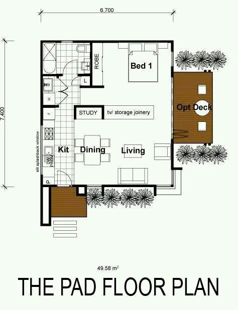 Studio type  floorplan houses  Pinterest  평면도 및 인테리어