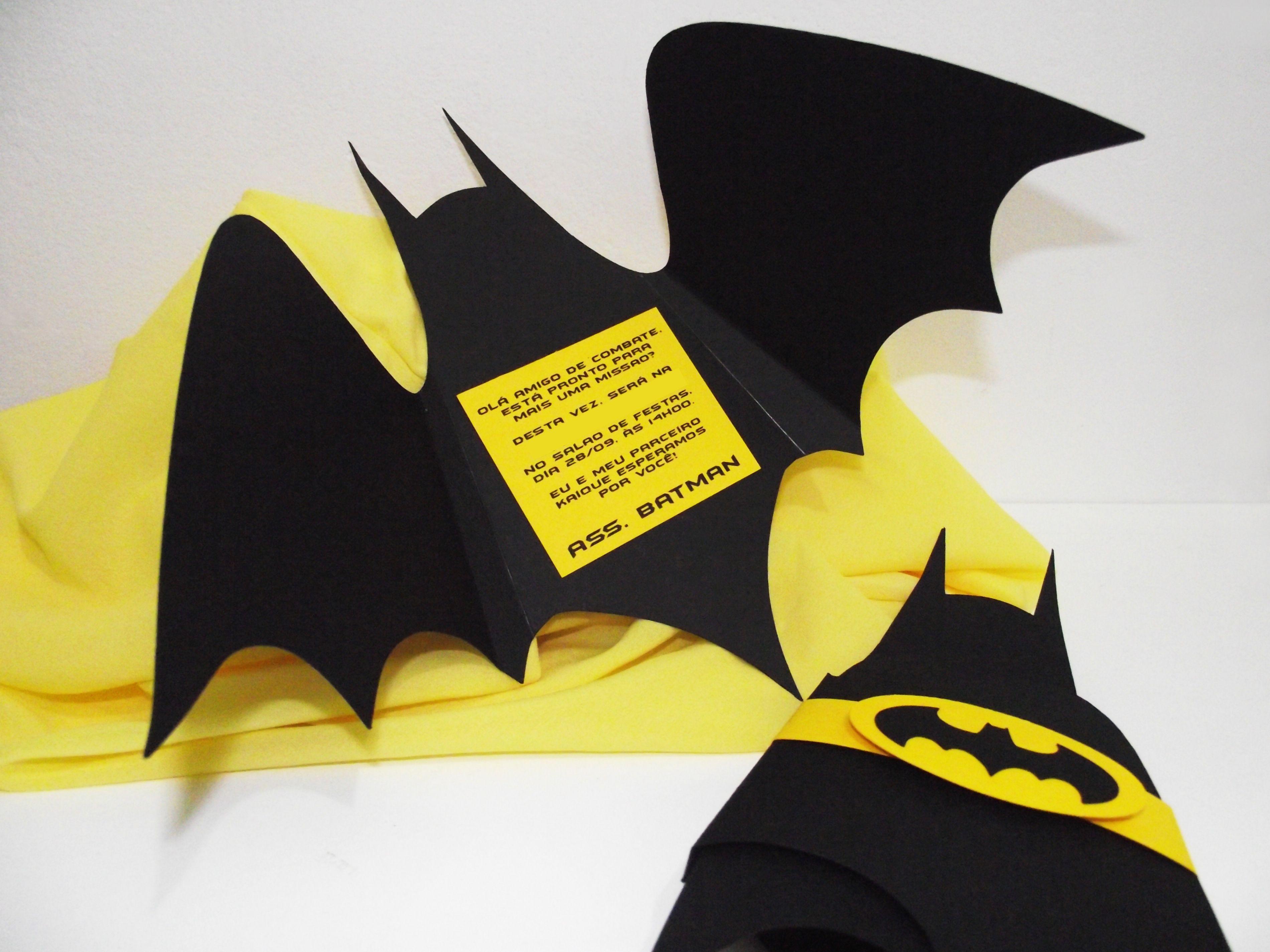 Convite Batman | Convites para Festas Infantis | Pinterest | Batman, Batman party and Batman ...