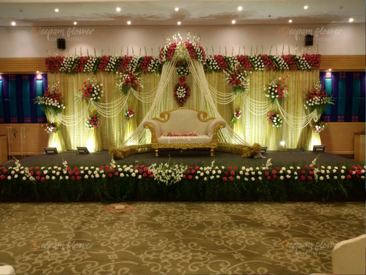 Wedding stage decoration images in hd  Pin by Deepam Flower Decorators on Wedding Stage Decoration