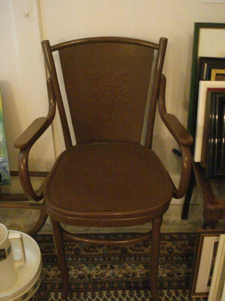 Bugholz Thonet Stuhl Toiletten Stuhl Um 1900 Rucken U Sitzflache Gepragt