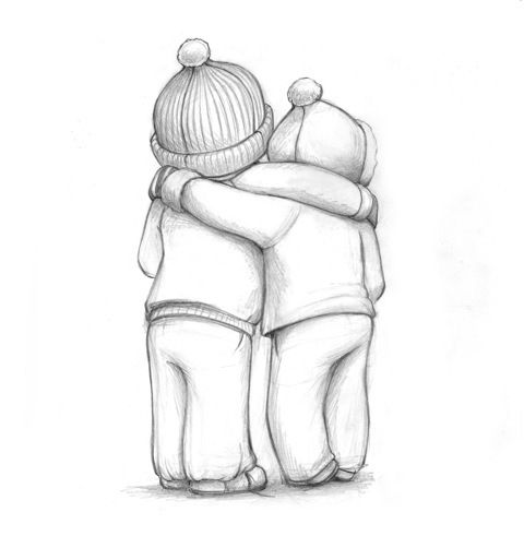 cute love sketches - Google Images | Friendship sketches ...