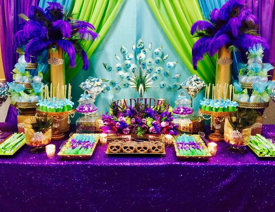 Peacock Theme Birthday 50th Celebration