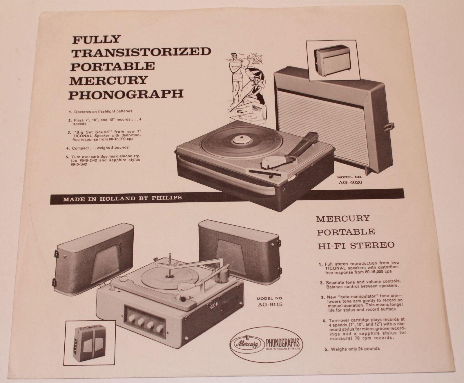 3 mercury atlantic vox records vintage lp paper company inner sleeve