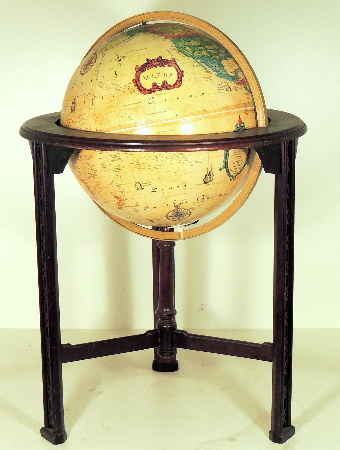 Globe With Stand, Chippendale Style - Warner Bros. Property Department