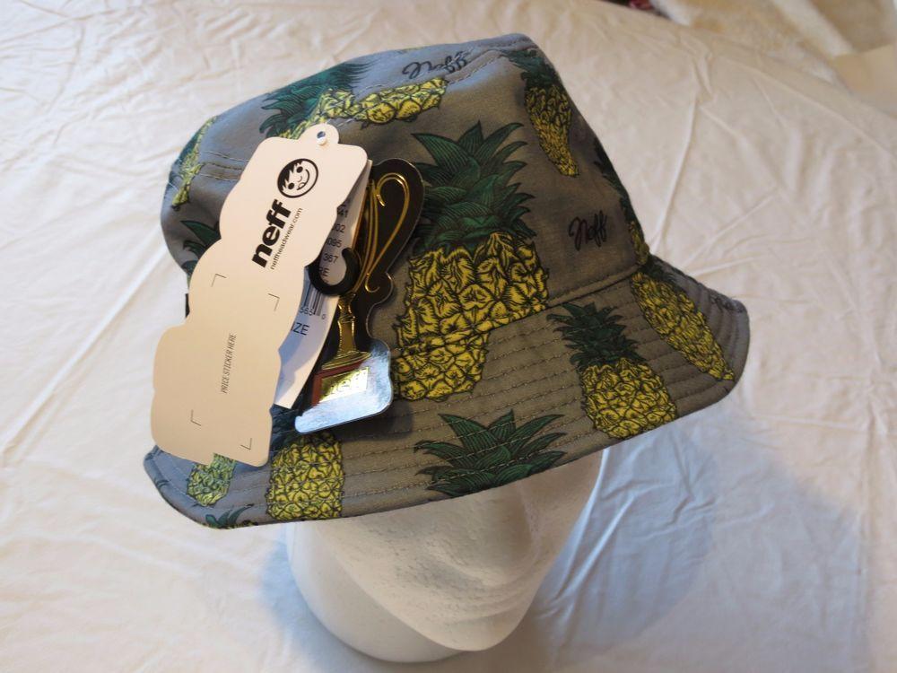 472482e12ef NEFF grey pineapple fishing Men s adult sun bucket hat cap surf skate  headwear  NEFF  buckethatcap