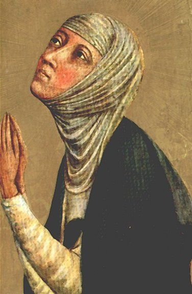 Saint Catherine of Siena (born 23rd of 25 children) was a scholastic philosopher and theologian.  She received no education and at age seven decided to become a lay member of the Dominican religious order (against the wishes of her parents).  She lived at home as an anchoress in order to be able to perform acts of self denial that would not have been permitted in a nunnery.  Catherine dedicated her life to helping the ill and the poor, where she took care of them in hospitals or homes.  She…