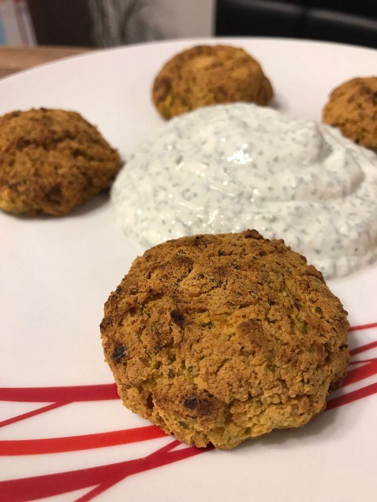 Gesunde Ofen Falafel mit Kräuterquark - Fitness Rezept zum Abnehmen,  #abnehmen #Falafel #Fitness #g...