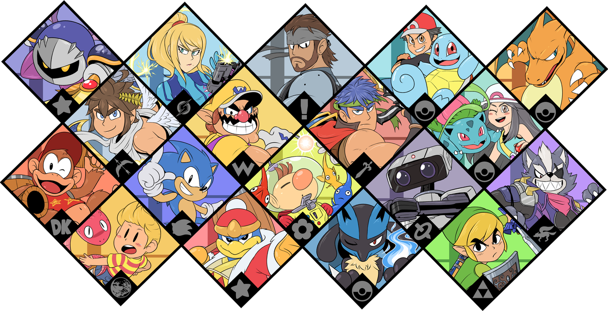 Super Smash Bros Ultimate Brawl Fighters By Zieghost Super Smash Bros Brawl Super Smash Bros Super Smash Bros Party