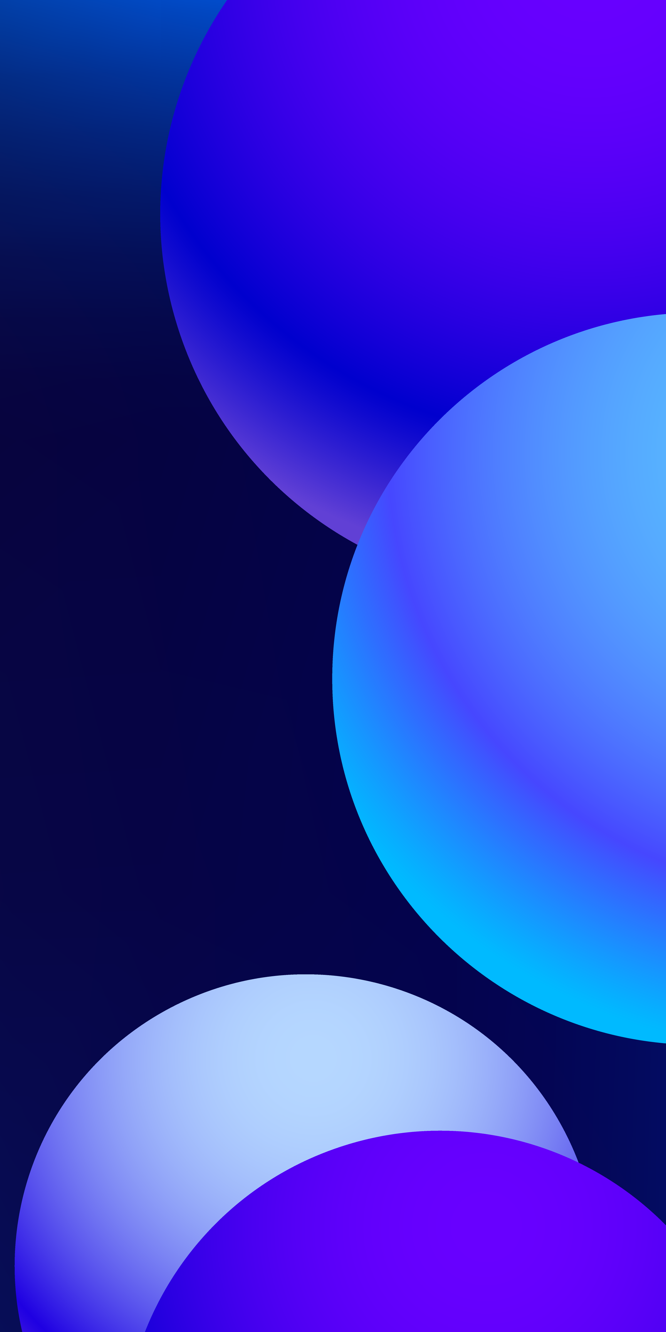 Blue Gradient circles by @Ongliong11 on Twitter