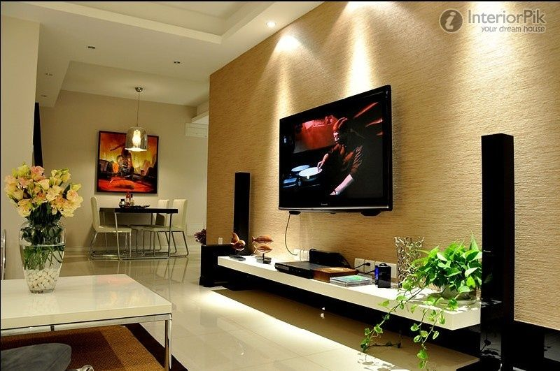 minimalist design for small apartment living room tv wall pictures