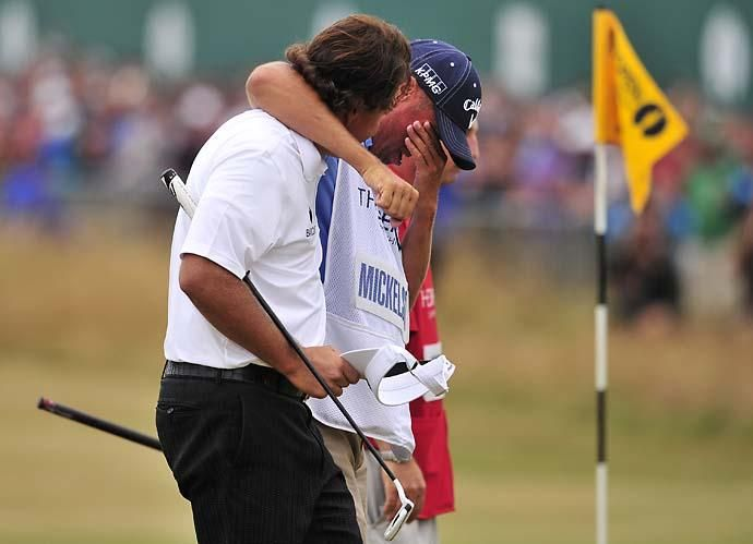 Phil and Bones at the Open Championship--the Champion Golfer of the Year