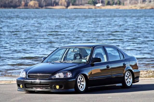 Slammed Ek 4 Door Tristatetuners Com Home Of Tristate Auto Enthusiast Honda Civic Vtec Honda Civic Sedan Honda Civic Ex