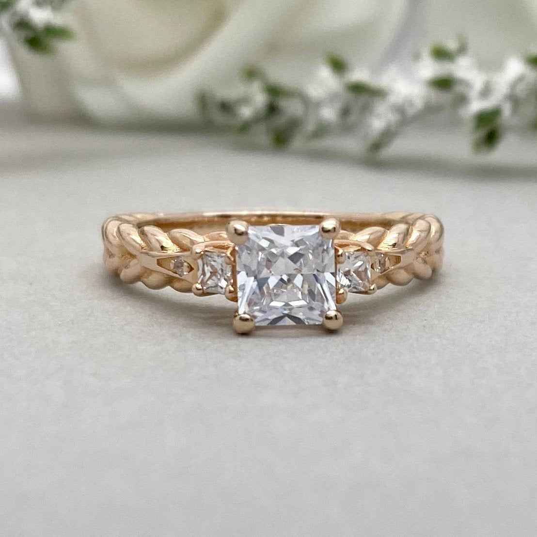 Sterling Silver Simulated Oval Cut Diamond Halo Engagement Ring with Side Stones Promise Bridal Ring