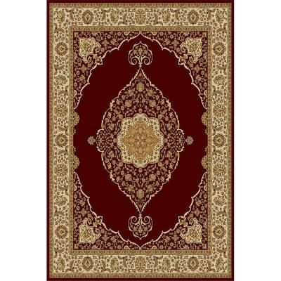 Bazaar Emy Red Ivory 8 Ft X 10 Area Rug Apartmento