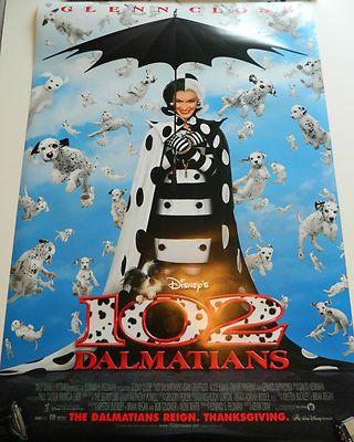 Disneys 102 Dalmatians Movie Poster 2 Sheet 2000 Glenn Close Collectible Nr Disney Movie Posters Movie Posters Disney Movies
