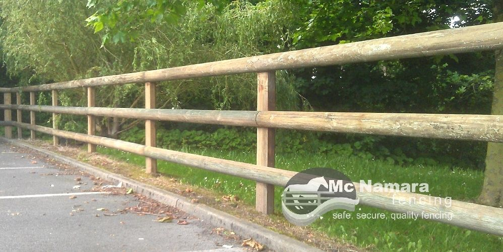 Mcnamara Fencing Post Half Round Rail Fence Mcnamara Fencing Backyard Fences Garden Fence Rail Fence