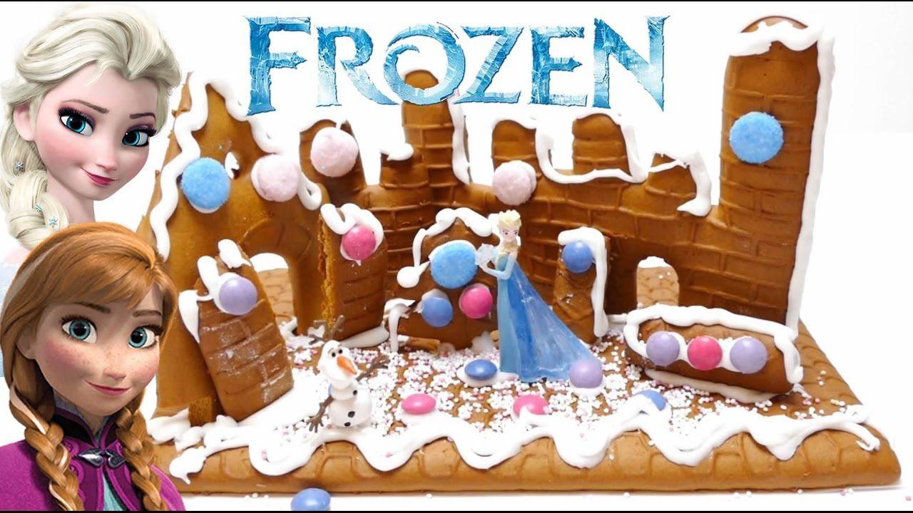 frozen elsa diy gingerbread castle  disney diy lebkuchen