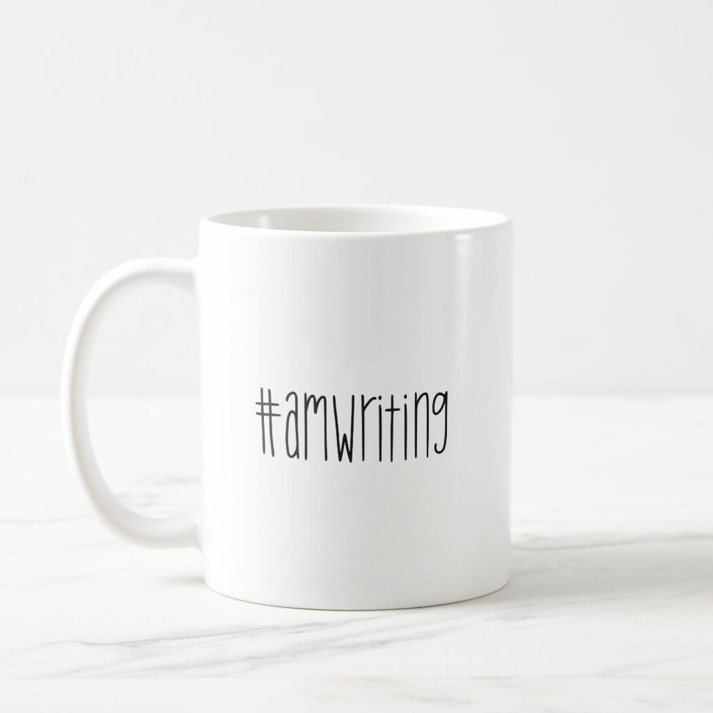 #amwriting Coffee Mug. Great gift for authors.