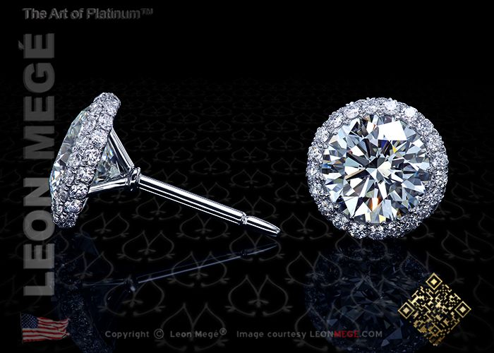 35c7407d9f324 Round diamonds one carat each in micro pave diamond stud earrings by ...