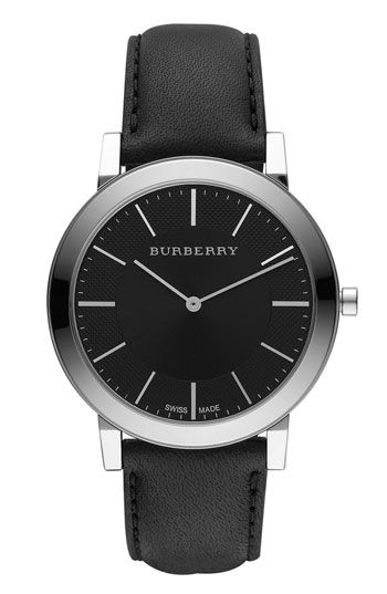 22594952459 Burberry Timepieces Slim Leather Strap Watch | Nordstrom ...