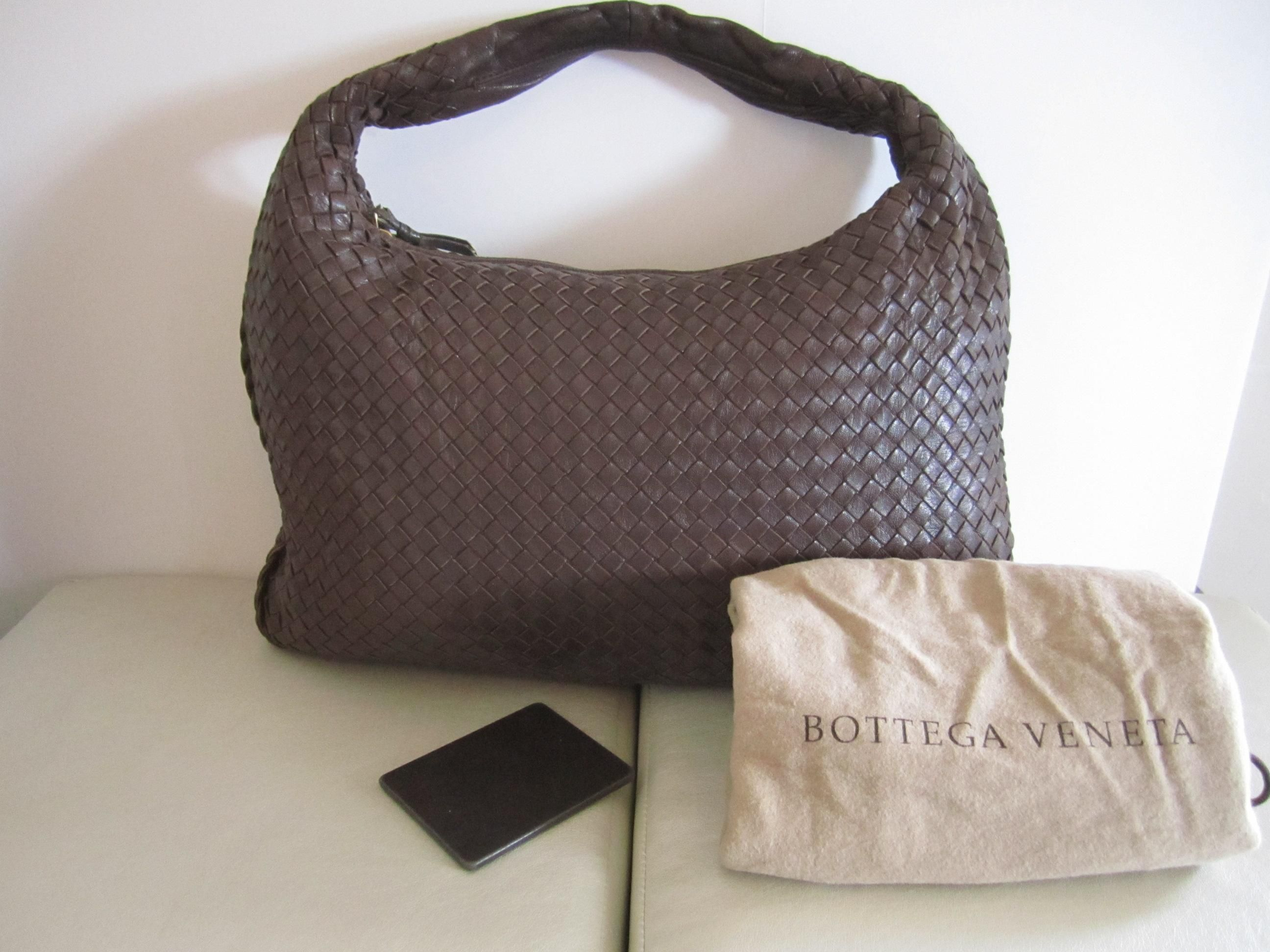 93b468d16149 Bottega Veneta Intrecciato Leather Hobo With Mirror Shoulder Bag. Get one  of the hottest styles of the season! The Bottega Veneta Intrecciato Leather  Hobo ...