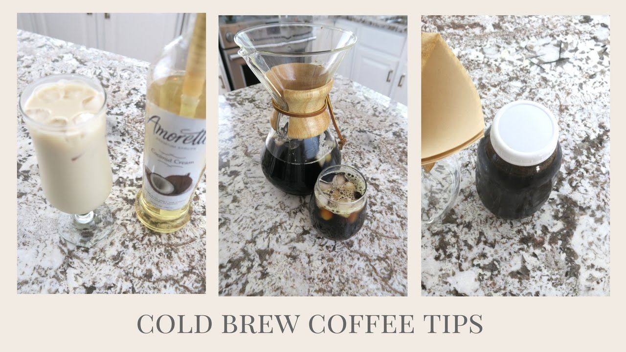 How to make cold brew coffee iced latte making cold