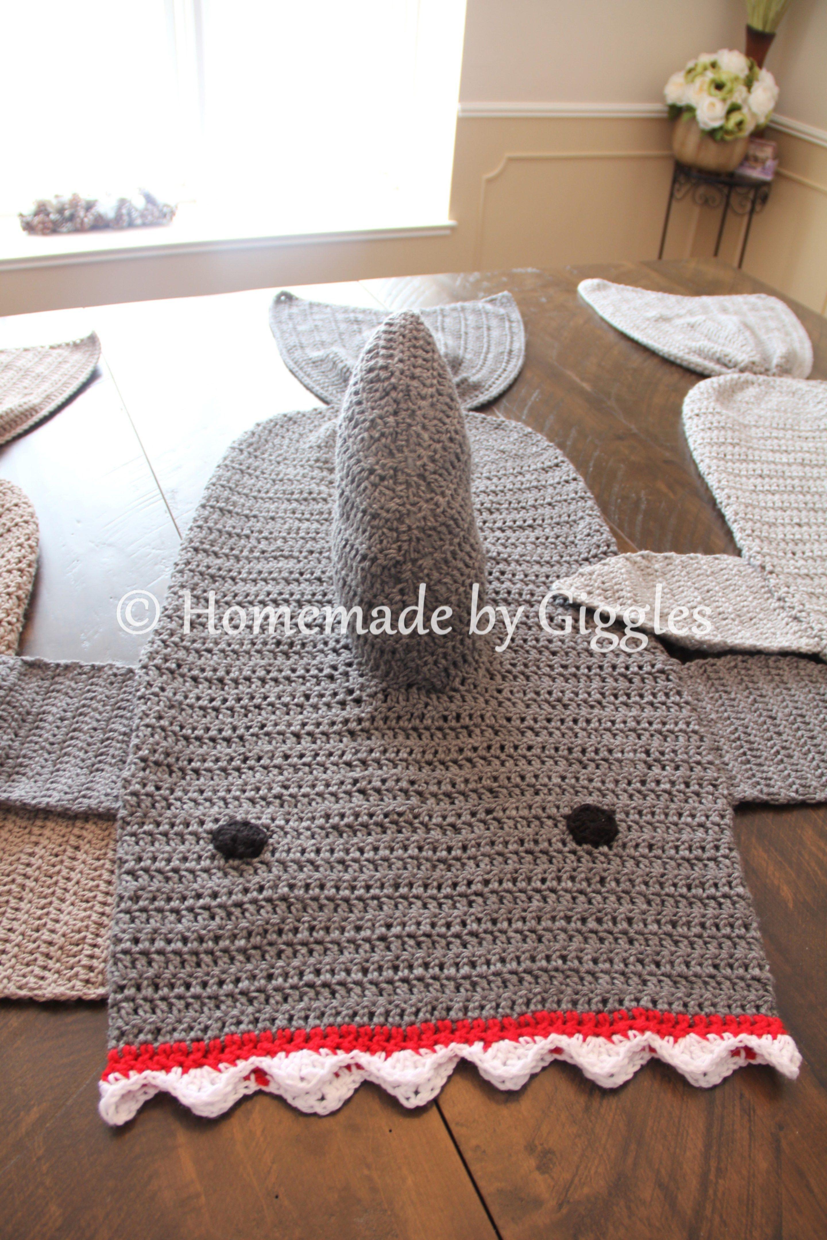 Hermosa Zapatillas De Tiburón Patrón De Crochet Libre Elaboración ...