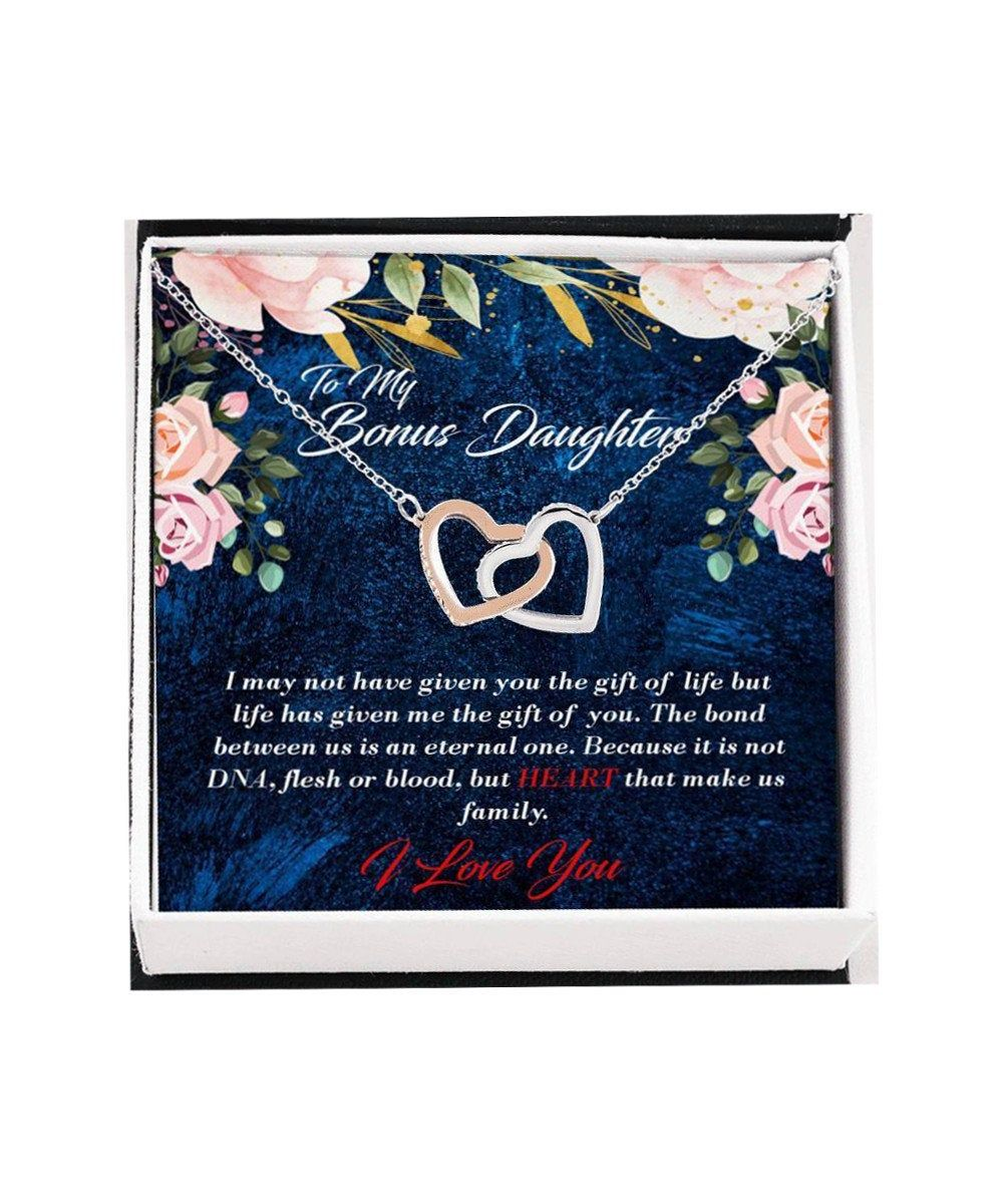 Bonus daughter necklace gift from mom dad step daughter