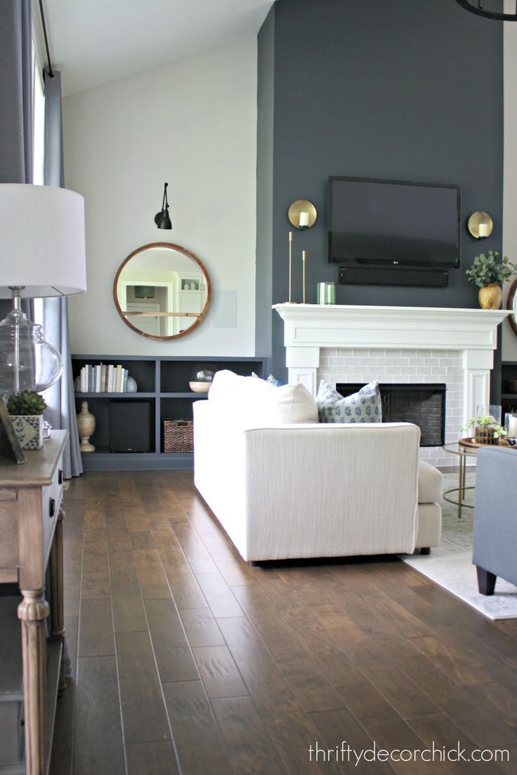 Photo of Our finished family room transformation! – Our finished family room tra …