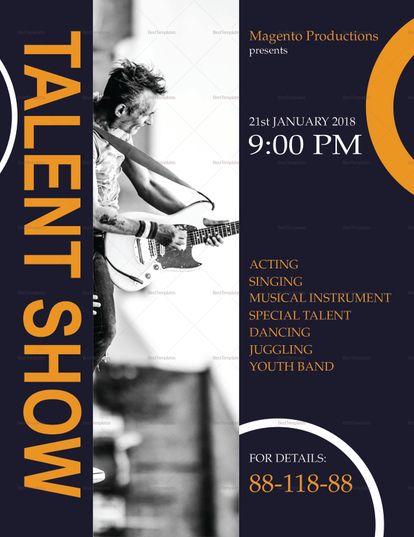 Talent Show Flyer Template Pinterest Flyer Template Commercial