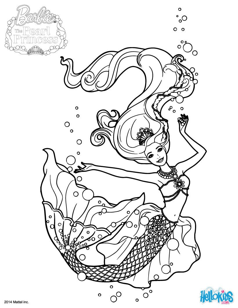 Free printable coloring pages barbie princess - Princess Lumina Barbie Printable Find Free Coloring Pages Color Poster And Pictures In Barbie The Pearl Princess Coloring Pages Print Out And Color