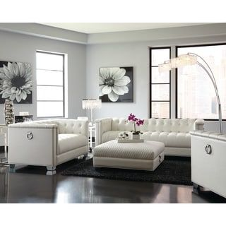 Shop For Chaviano Contemporary White Sofa Get Free Shipping At