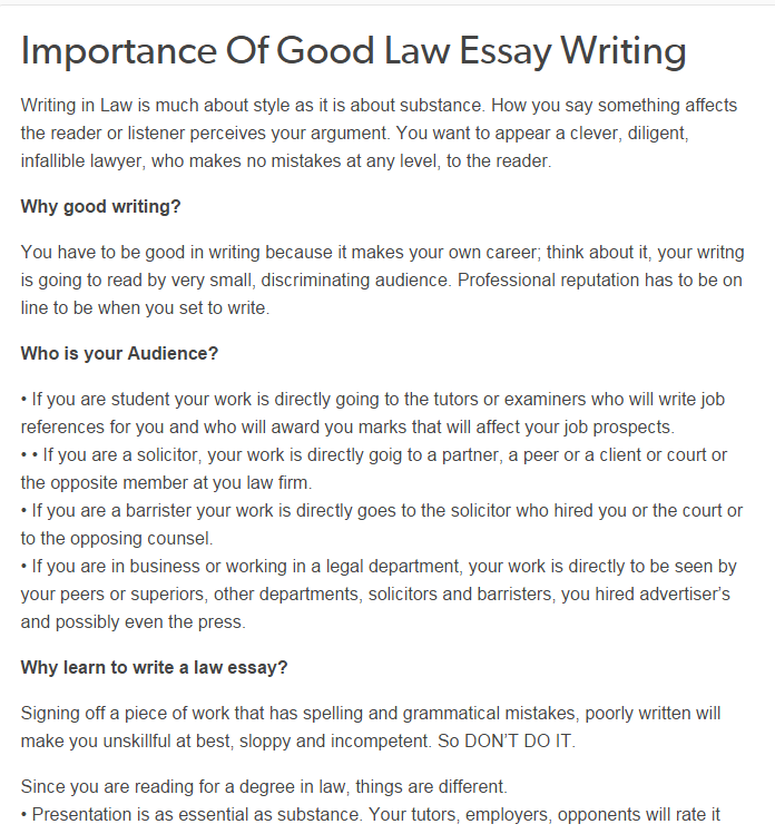 Importance Of Good Law Essay Writing Help Uk Review