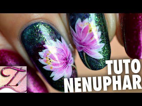Tuto Nail Art Nenuphar En Peinture Nail Art Tuto Nail Art Tuto