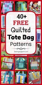 40 Free Quilted Tote Bag Patterns  DIY Projects Tote Bag Patterns quilted st
