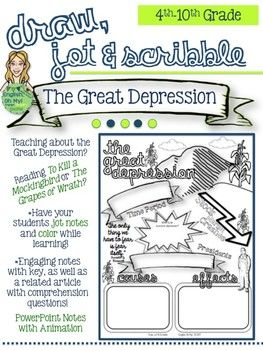 the great depression draw jot scribble doodle notes