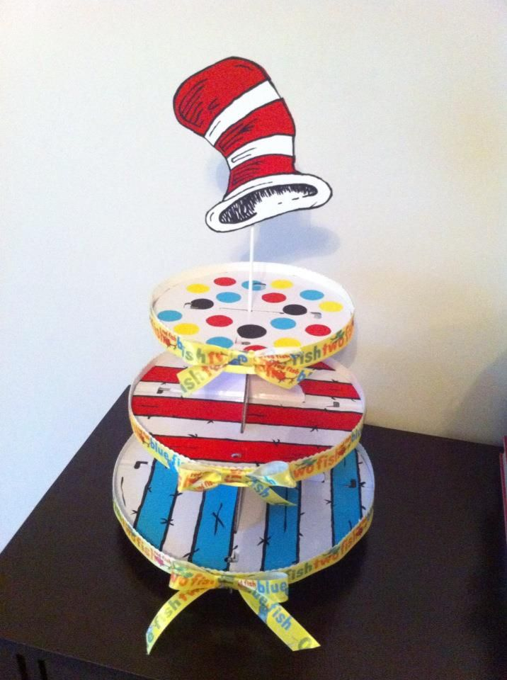 Dr seuss cupcake stand for under 10 thanks to pinterest for Walmart arts and crafts paint