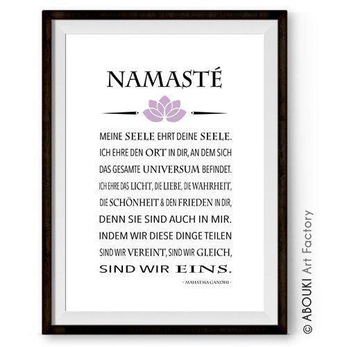 ABOUKI hochwertiger Kunstdruck - ungerahmt - mit Gandhi Zitat ...