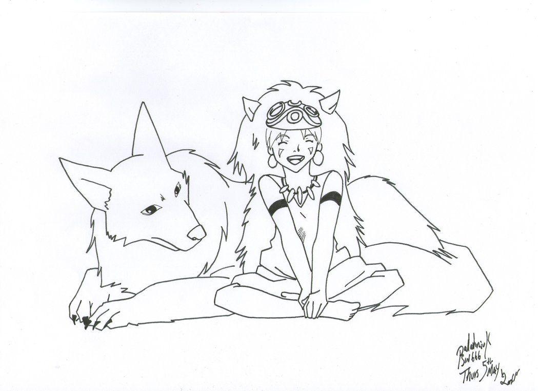 Princess Mononoke By Palahniuksin666 D5ayso9 Jpg 1049 762 Princess Mononoke Coloring Pages Color