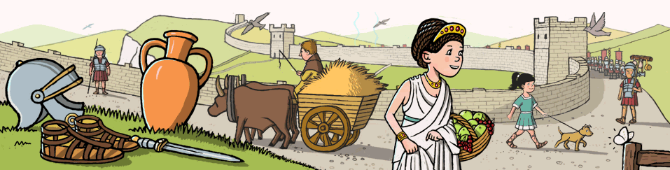 Ancient Romans History site with fun game