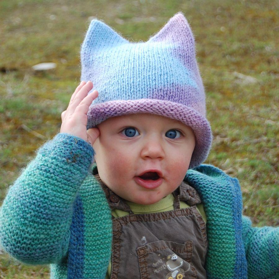 Woolly Wormhead - Baby Tri-Peak - free Hat knitting pattern   Baby ...