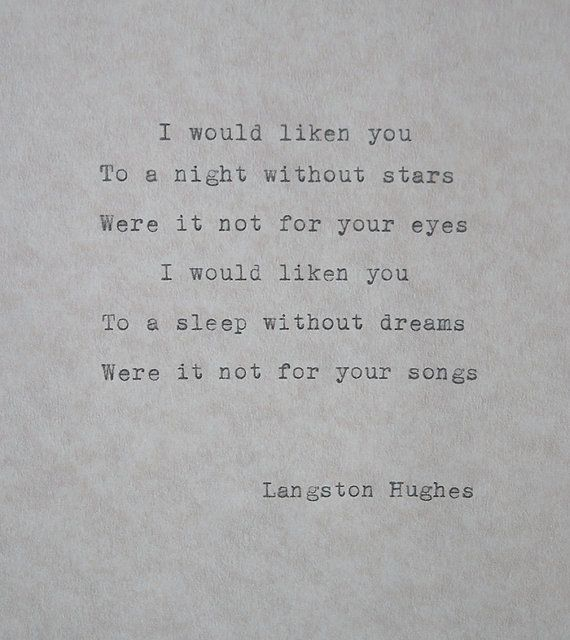 langston hughes writing style Langston hughes, the big sea (1945) back next so hughes's writing style sets you up for something positive, and then flips the script it's a fun.