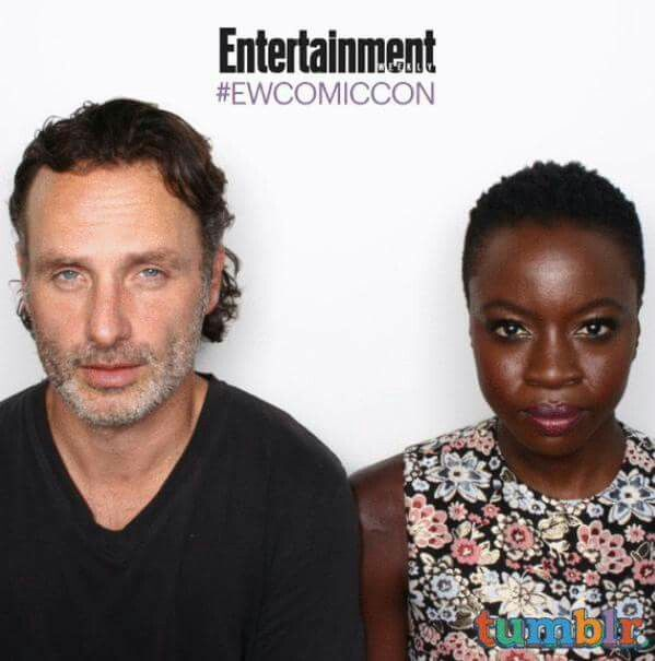 Andrew Lincoln and Dania