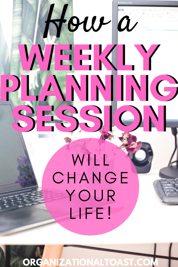 How a Sunday planning session can help you be more productive and manage your time better so you reduce overwhelm! Busy moms, this weekly practice is a game changer and is exactly what I needed to change my life!