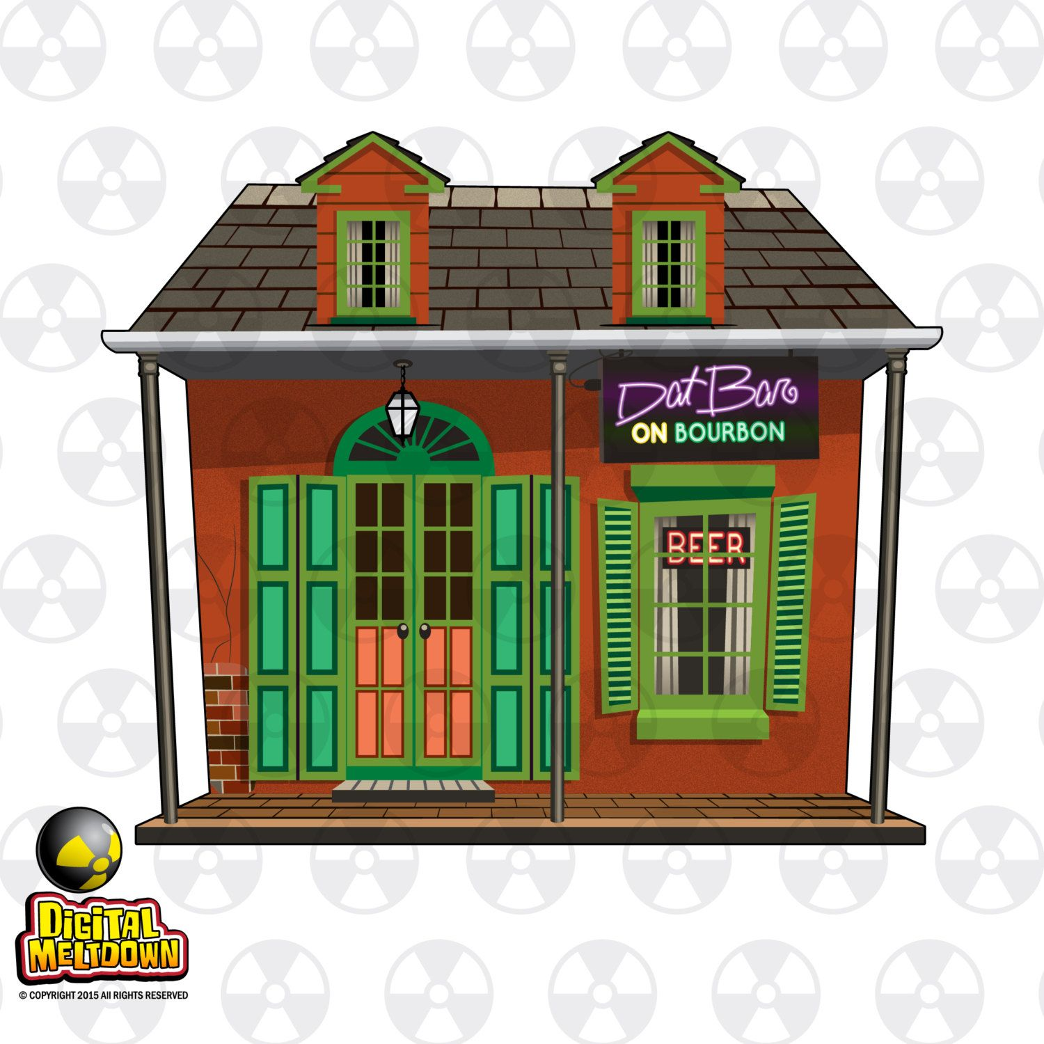 New Orleans Louisiana Vector Clipart, New Orleans French ...